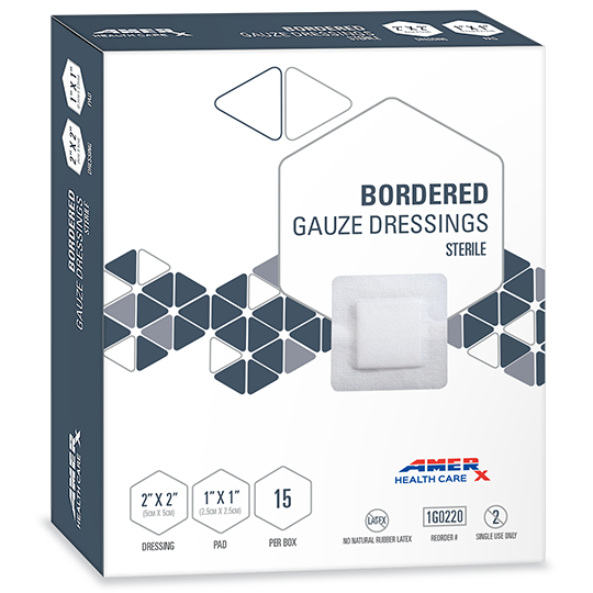 AMERX® Bordered Gauze Dressing - 1x1