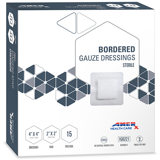 AMERX® Bordered Gauze Dressing - 2x2